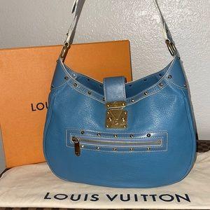 Authentic Louis Vuitton Suhali L Affriolant Blue